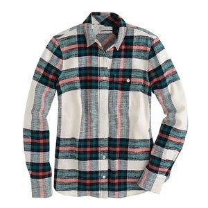 Boy for plaid shirt.